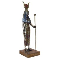 Hathor Egyptian Goddess Bronze 9 Inch Statue