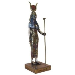Hathor Egyptian Goddess Bronze 9 Inch Statue Egyptian Marketplace  Egyptian Decor Statues, Jewelry & Art - God Statues & Museum Replicas