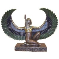 Winged Maat Egyptian Goddess 6 Inch Statue