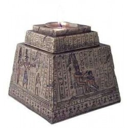 Egyptian Pyramid Tea Light Candle Box Egyptian Marketplace  Egyptian Decor Statues, Jewelry & Art - God Statues & Museum Replicas