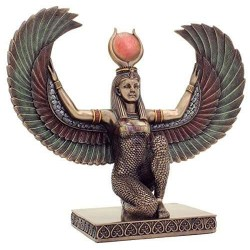Winged Isis Egyptian Bronze Statue Egyptian Marketplace  Egyptian Decor Statues, Jewelry & Art - God Statues & Museum Replicas