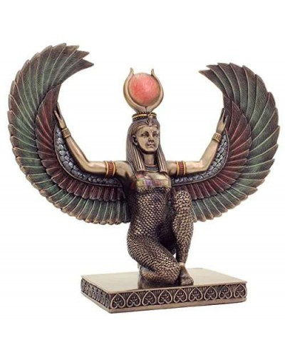 Winged Isis Egyptian Bronze Statue