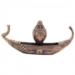 Pharaoh Canoe with Canopic Jar Box Egyptian Marketplace  Egyptian Decor Statues, Jewelry & Art - God Statues & Museum Replicas