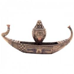Pharaoh Canoe with Canopic Jar Box