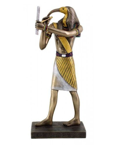 Thoth Egyptian God of Wisdom 9 Inch Statue at Egyptian Marketplace,  Egyptian Decor Statues, Jewelry & Art - God Statues & Museum Replicas