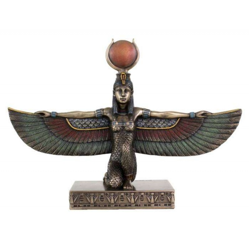 Egyptian Goddess Isis With Outstretched Wings 7 Inch Resin Statue