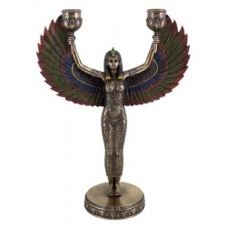 Winged Isis Egyptian Bronze Candle Holder Egyptian Marketplace  Egyptian Decor Statues, Jewelry & Art - God Statues & Museum Replicas