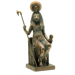 Sekhmet Seated Egyptian Goddess Statue Egyptian Marketplace  Egyptian Decor Statues, Jewelry & Art - God Statues & Museum Replicas