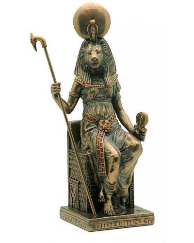 Sekhmet Seated Egyptian Goddess Statue at Egyptian Marketplace,  Egyptian Decor Statues, Jewelry & Art - God Statues & Museum Replicas