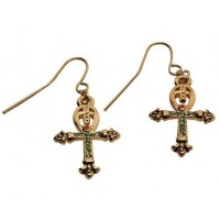 Ankh Egyptian Cross Earrings