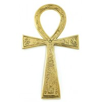 Ankh - Large Brass Egyptian Ankh 6.5 Inches
