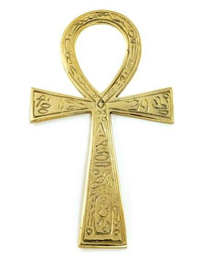 Ankh - Large Brass Egyptian Ankh 6.5 Inches at Egyptian Marketplace,  Egyptian Decor Statues, Jewelry & Art - God Statues & Museum Replicas