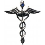 Caduceus Amulet for Healing at Egyptian Marketplace,  Egyptian Decor Statues, Jewelry & Art - God Statues & Museum Replicas