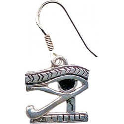 Eye of Horus Earrings for Protection Egyptian Marketplace  Egyptian Decor Statues, Jewelry & Art - God Statues & Museum Replicas